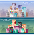 mobile technologies in the city horizontal vector image