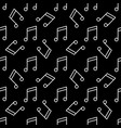 musical note dark seamless pattern vector image
