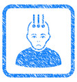 neural interface framed stamp vector image vector image
