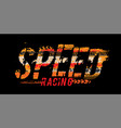 off-road speed lettering vector image vector image