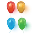 realistic air 3d balloons isolated on white vector image vector image