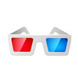 realistic cinema 3d glasses red and blue vector image vector image