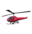 red helicopter on white background vector image vector image
