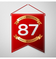 Red pennant with inscription Eighty seven Years vector image vector image
