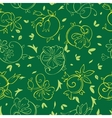 Royal Golden Green Flowers Seamless Pattern vector image