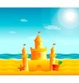 sand castle on beach vector image