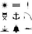 sea icon set vector image vector image