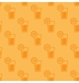 seamless background with glasses juice vector image vector image