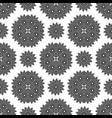 seamless black white mandala pattern vector image