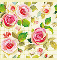 seamless floral pattern with beautifull roses vector image vector image