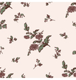 seamless pattern brown flower vector image vector image