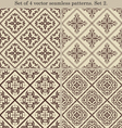 Set of 4 vintage seamless patternsSet 2 vector image vector image