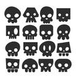 Set of skull heads vector image vector image