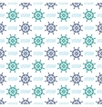 Ship Helm Seamless Pattern vector image vector image