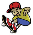 skater boy playing skateboard vector image vector image