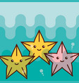 starfish sea life cartoon vector image