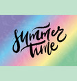 text summer time for print t shirt souvenir vector image vector image