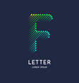 the letter f latin alphabet display vector image vector image