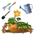 Tools for the cultivation of horticultural crops vector image vector image