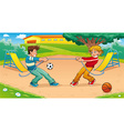 Tug of war with background vector image