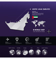 united arab emirates map illstration vector image