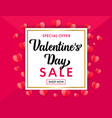valentines day sale banner and pink origami hearts vector image vector image