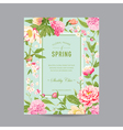 Vintage Floral Frame - for Invitation Wedding vector image vector image