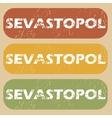 Vintage Sevastopol stamp set vector image vector image