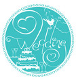wedding 1 vector image vector image