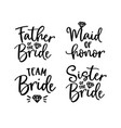 wedding lettering set black hand lettered quotes vector image