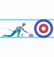 winter sport curling vector image