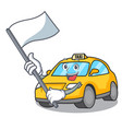 with flag taxi character mascot style vector image