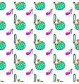 beauty products fashion seamless pattern bag shoe vector image