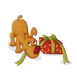 gift for puppy vector image