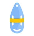 plastic bobber icon flat style vector image