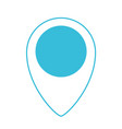 blue color silhouette of map pointer icon vector image
