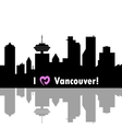 I love Vancouver vector image