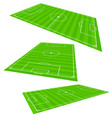3d soccer field planes vector image
