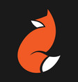 abstract fox symbol icon vector image vector image