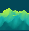 abstract landscape background 3d vector image vector image