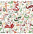 Arabic seamless script pattern vector image vector image
