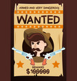 armed dangerous wanted vintage poster vector image vector image