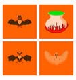 assembly flat potion cauldron bat ghost vector image vector image