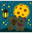 bears under the moon vector image vector image