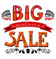 Big autumn sale lettering composition vector image vector image