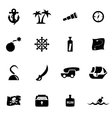 black pirate chart icon set vector image vector image
