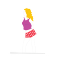 blonde in red shorts vector image