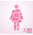 breast cancer awareness month pink girl concept vector image vector image