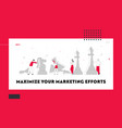business strategy plan website landing page vector image vector image