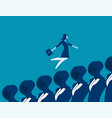 business woman running up concept business vector image
